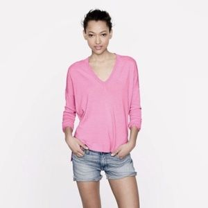 J. CREW Merino Wool Boyfriend V-Neck Sweater M EUC